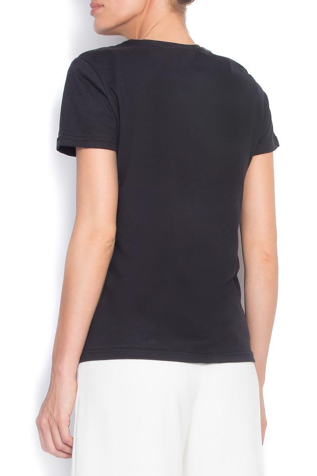 Tricou din bumbac imprimat digital  Aer Wear imagine 2