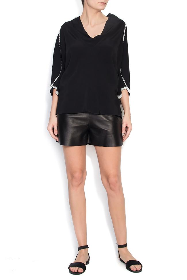 Bluza neagra din jerse cu maneci lasate Lena Criveanu imagine 0