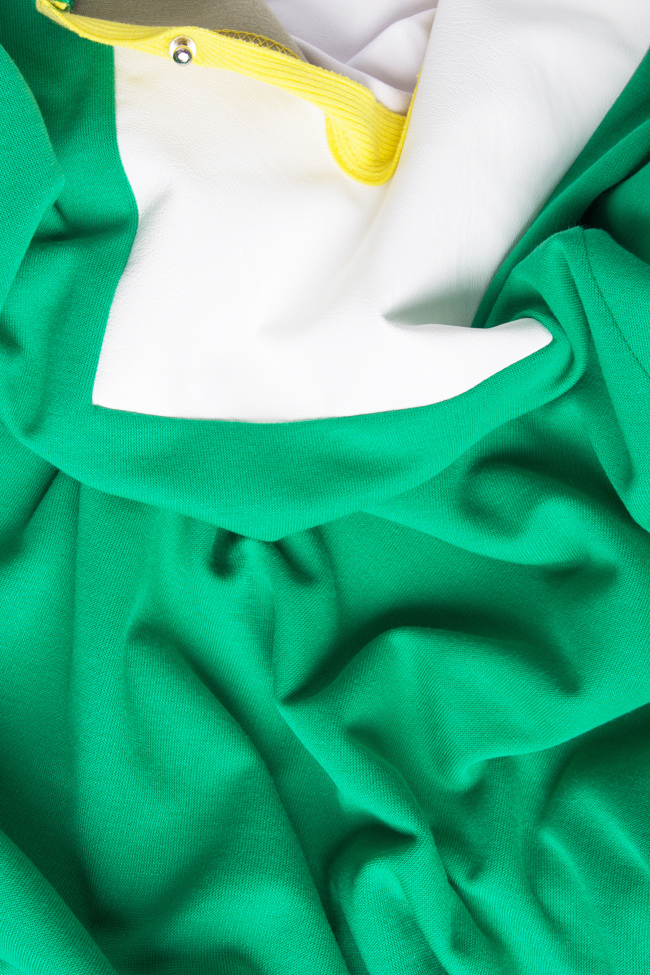 Rochie din bumbac cu aplicatie din piele ecologica  Lena Criveanu imagine 5