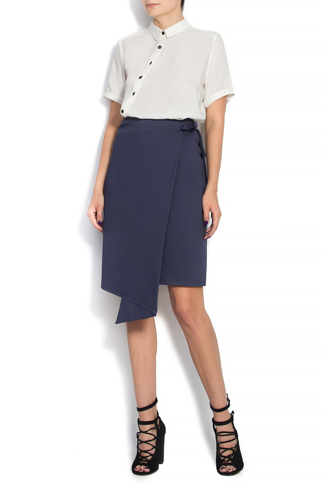 Cotton-blend wrapped skirt Undress image 0