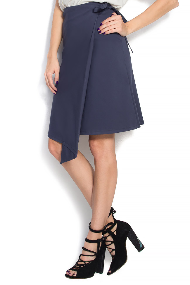 Cotton-blend wrapped skirt Undress image 1