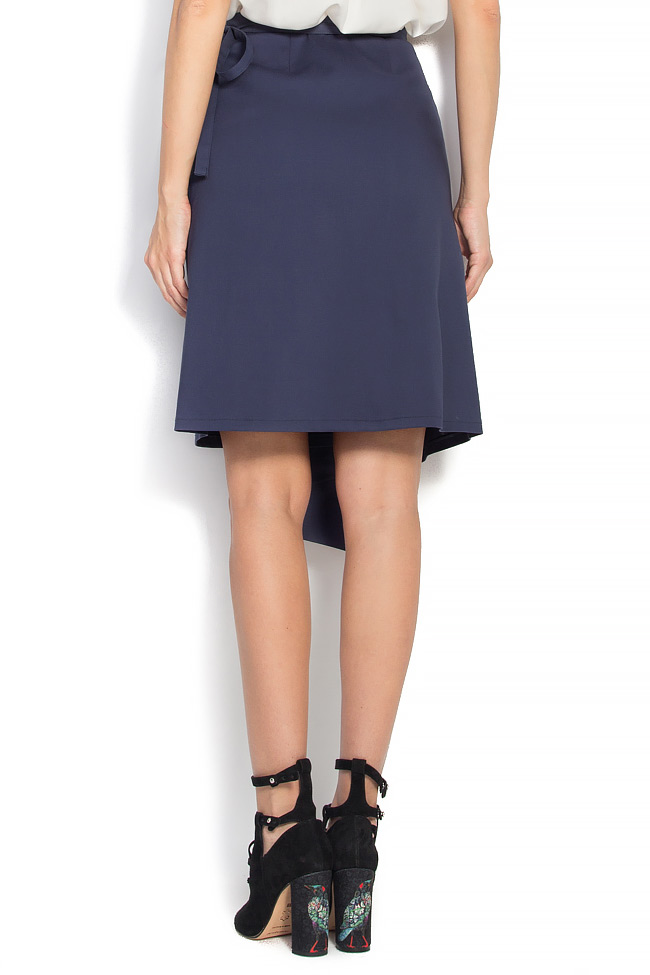 Cotton-blend wrapped skirt Undress image 2