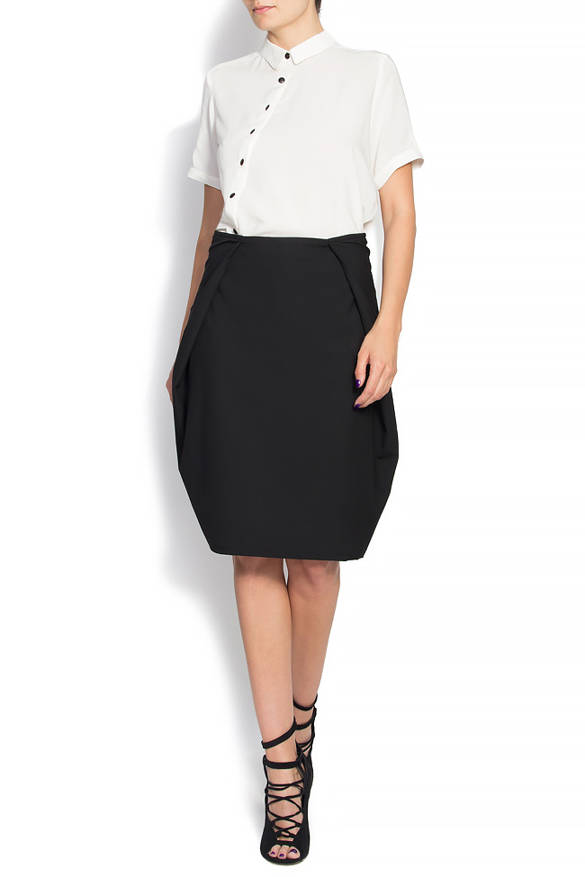 07bb5352f Cotton-blend cocoon skirt - Mini Skirts made to measure
