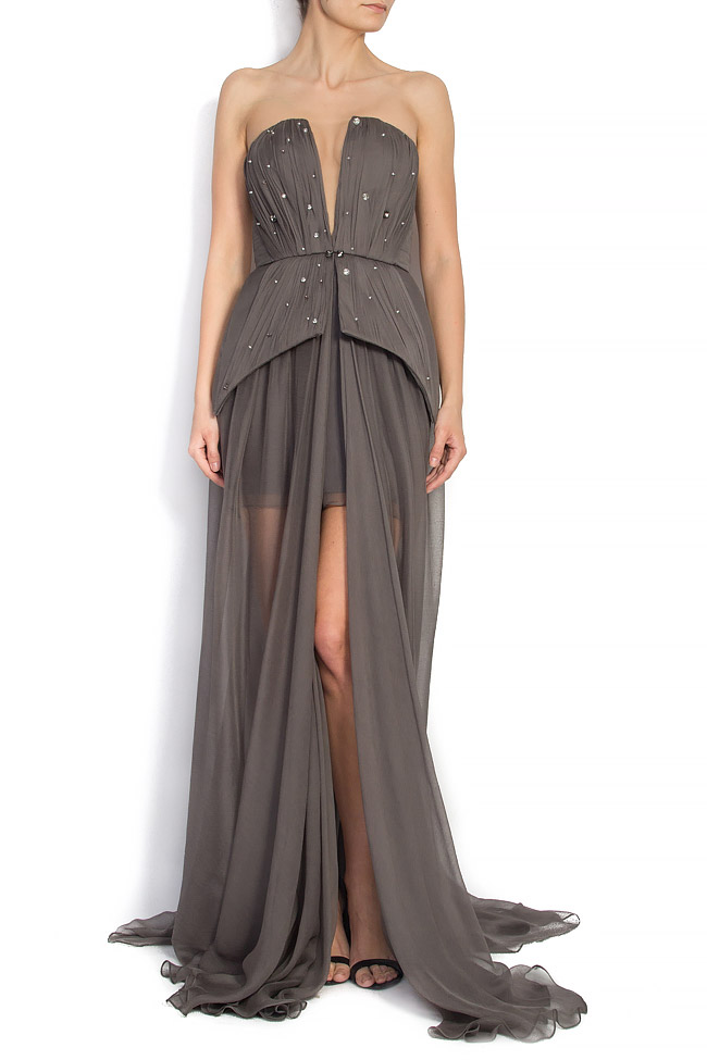 GRETA embellished silk gown Manuri image 0