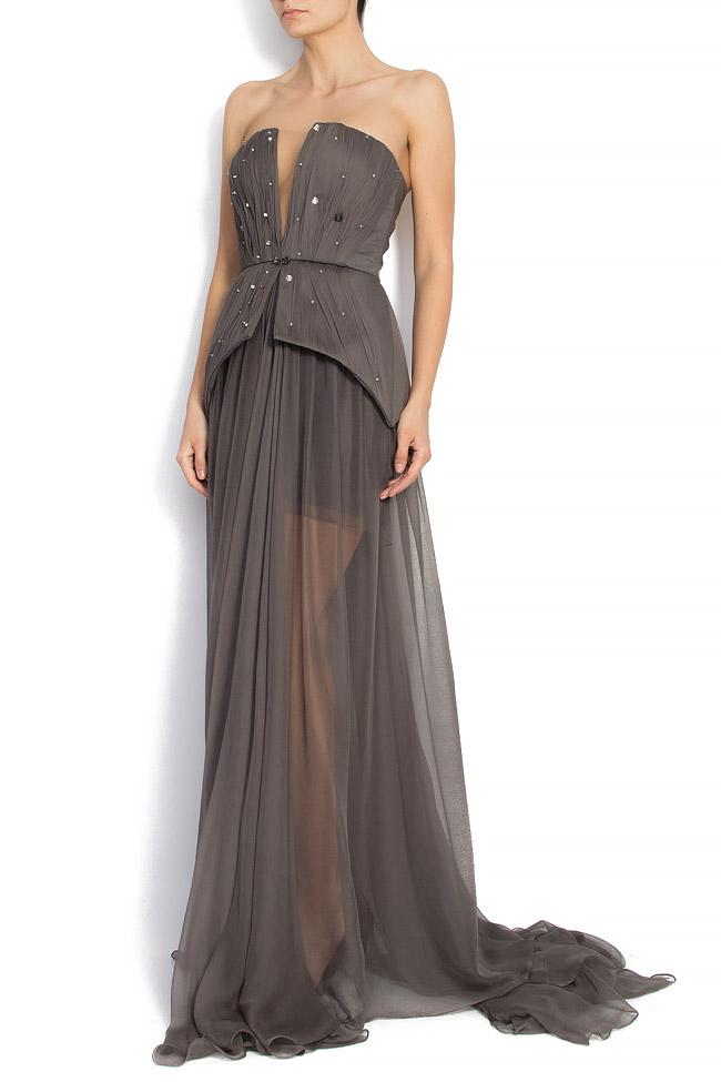 GRETA embellished silk gown Manuri image 1