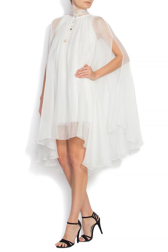 ANNE embroidered silk dress Manuri image 1