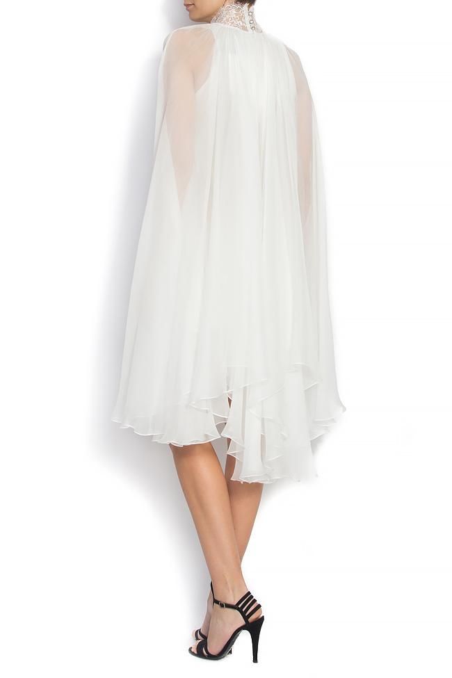 ANNE embroidered silk dress Manuri image 2