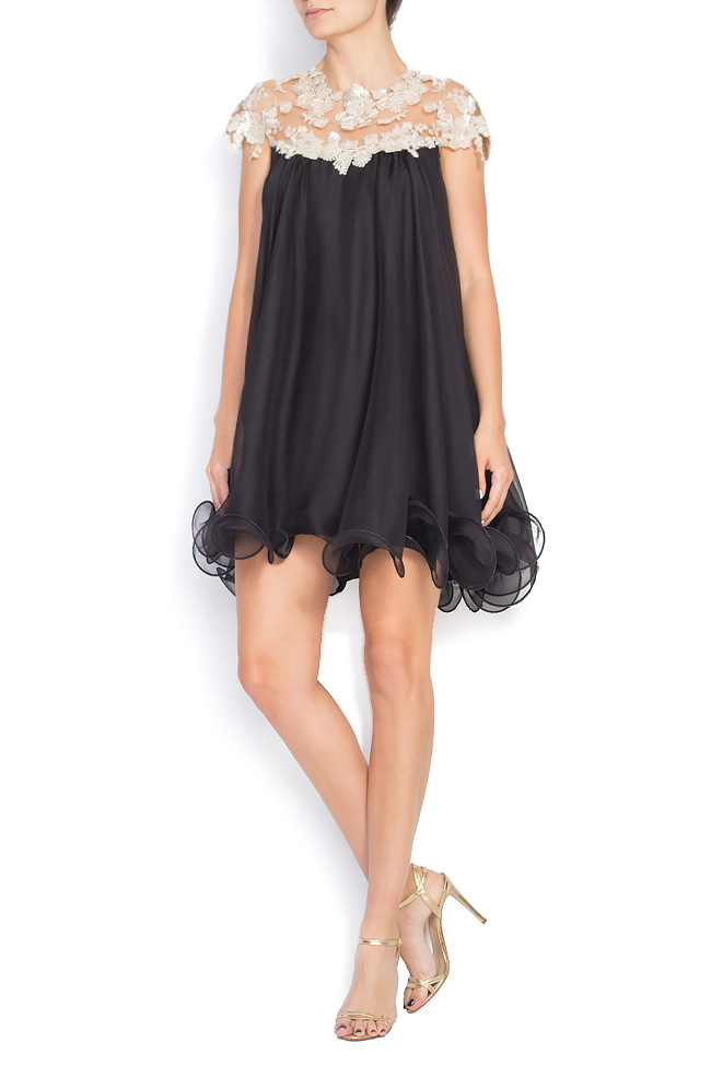 Embellished silk mini dress M Marquise image 0
