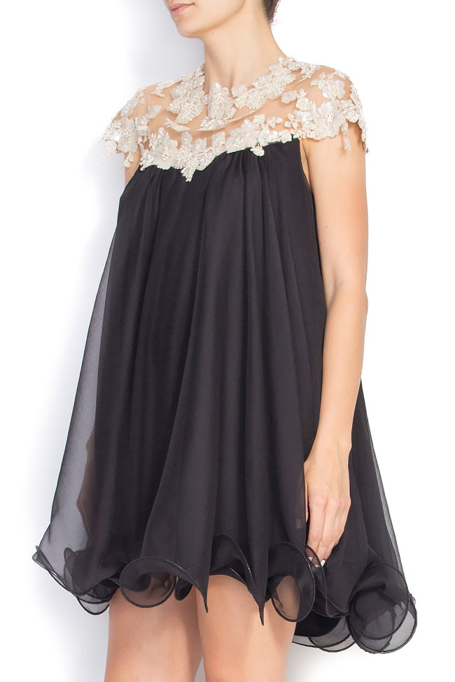 Embellished silk mini dress M Marquise image 1