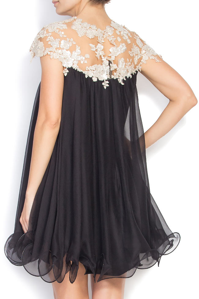 Embellished silk mini dress M Marquise image 2