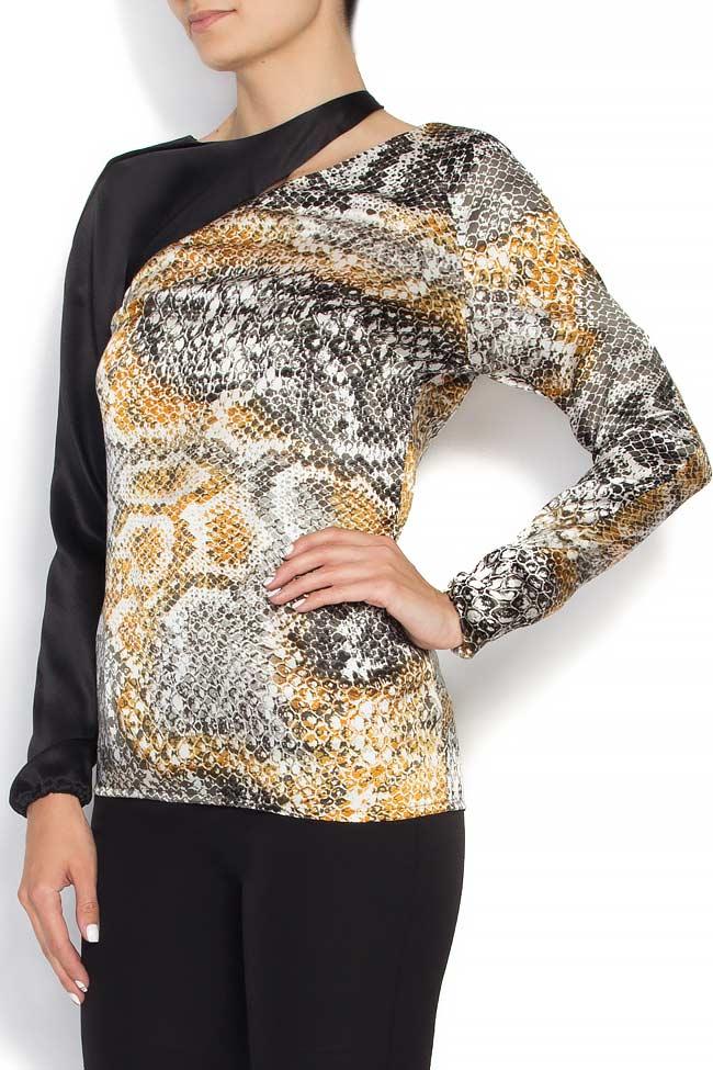 Snake cutout silk blouse Grigori Ciliani image 1
