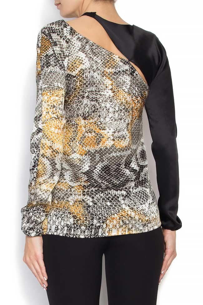 Snake cutout silk blouse Grigori Ciliani image 2