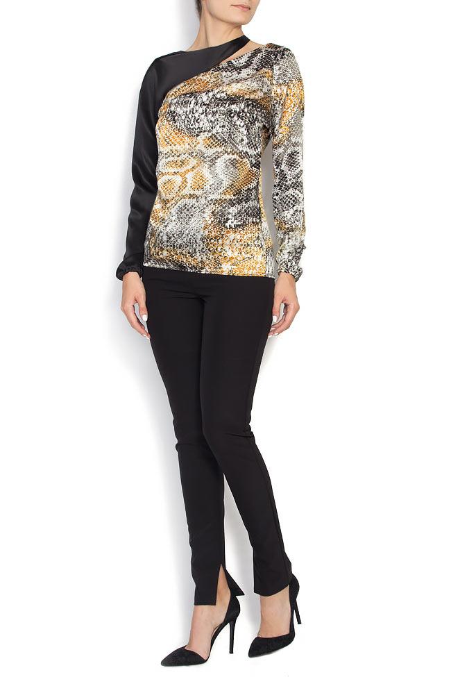 Snake cutout silk blouse Grigori Ciliani image 0