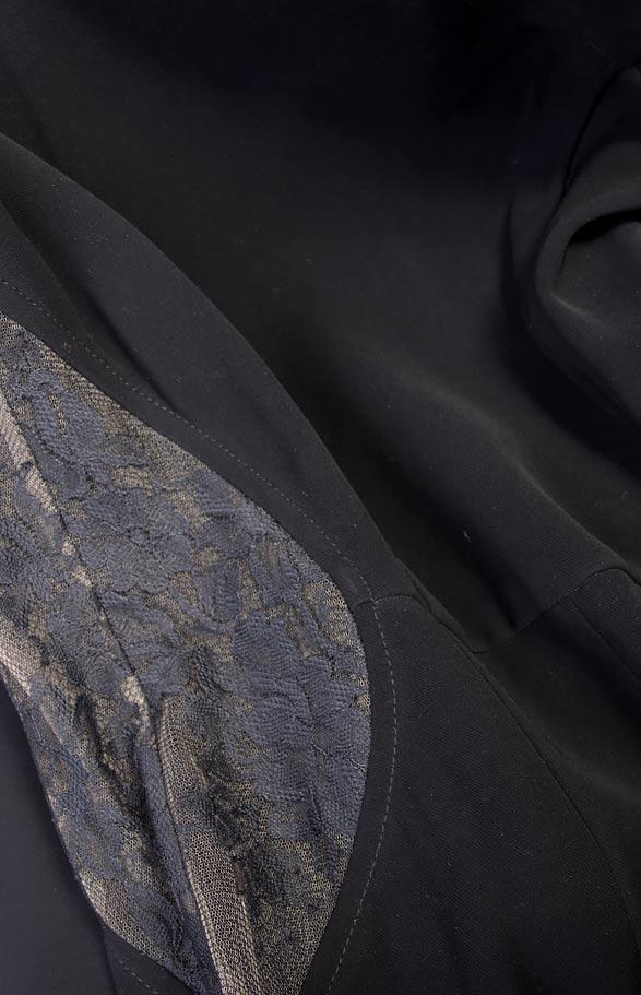 Lace-panel crepe jumpsuit M Marquise image 3