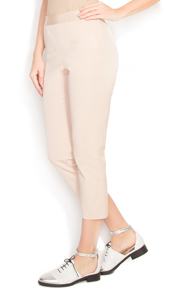 Pantaloni tip pana din crep Lena Criveanu imagine 1