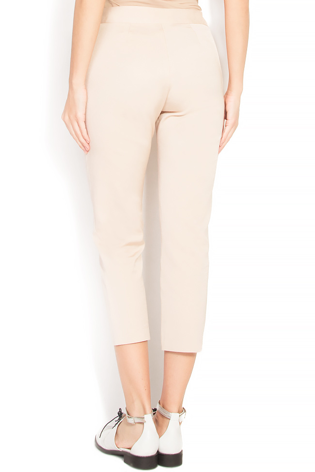 Pantaloni tip pana din crep Lena Criveanu imagine 2