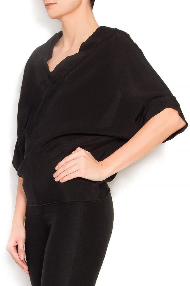 Bluza din crep cu spatele decupat Lena Criveanu imagine 1