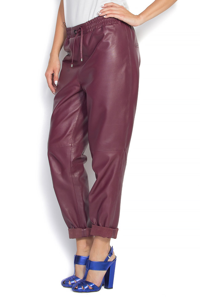 Pantaloni din piele naturala  Mathis imagine 1