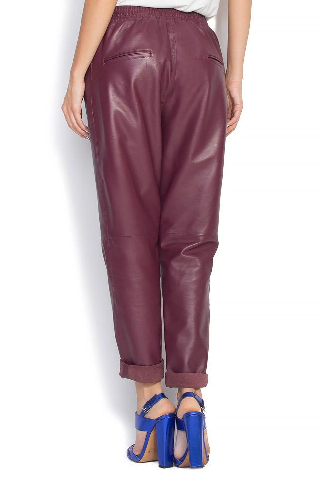 Pantaloni din piele naturala  Mathis imagine 2