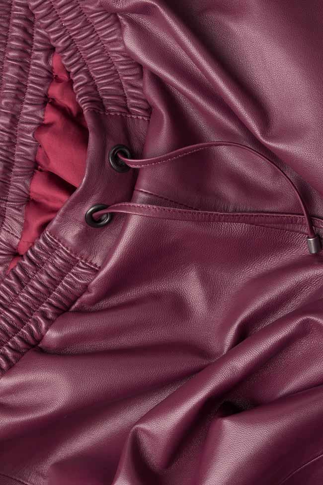 Pantaloni din piele naturala  Mathis imagine 3