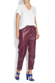 Mathis Leather wide-leg pants