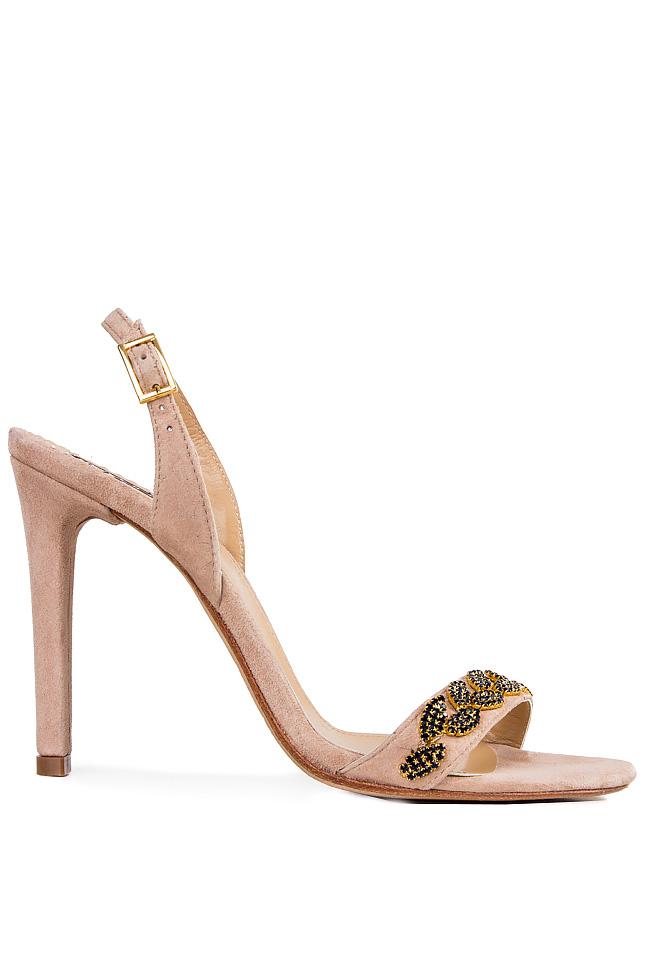Crystal-embellished suede sandals Hannami image 0