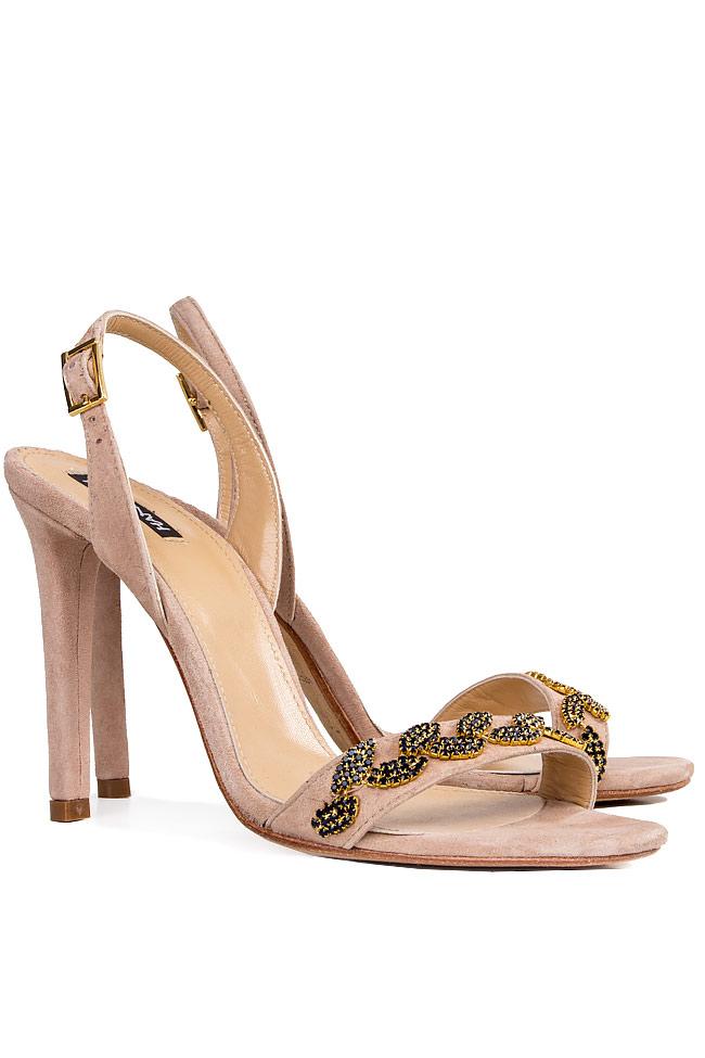 Crystal-embellished suede sandals Hannami image 1