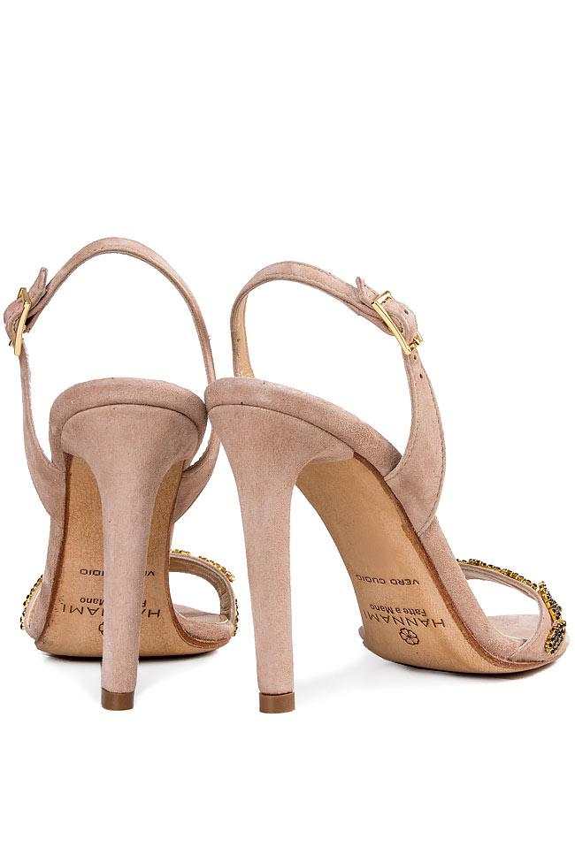 Crystal-embellished suede sandals Hannami image 2