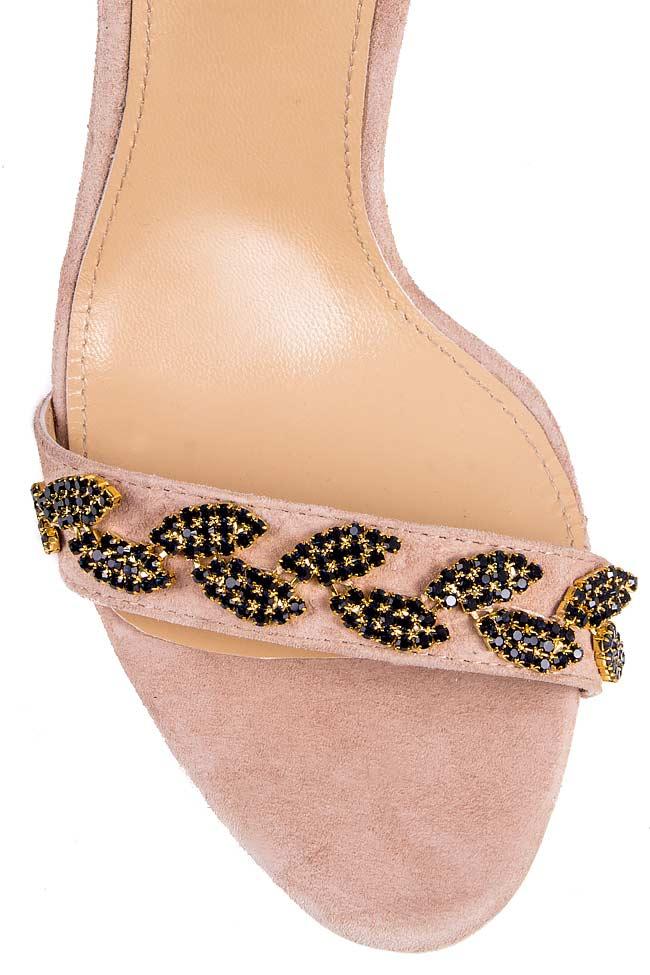 Crystal-embellished suede sandals Hannami image 3