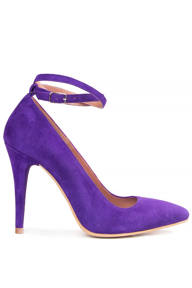 Pantofi tip stiletto din piele intoarsa MEHONIA Cristina Maxim imagine 0
