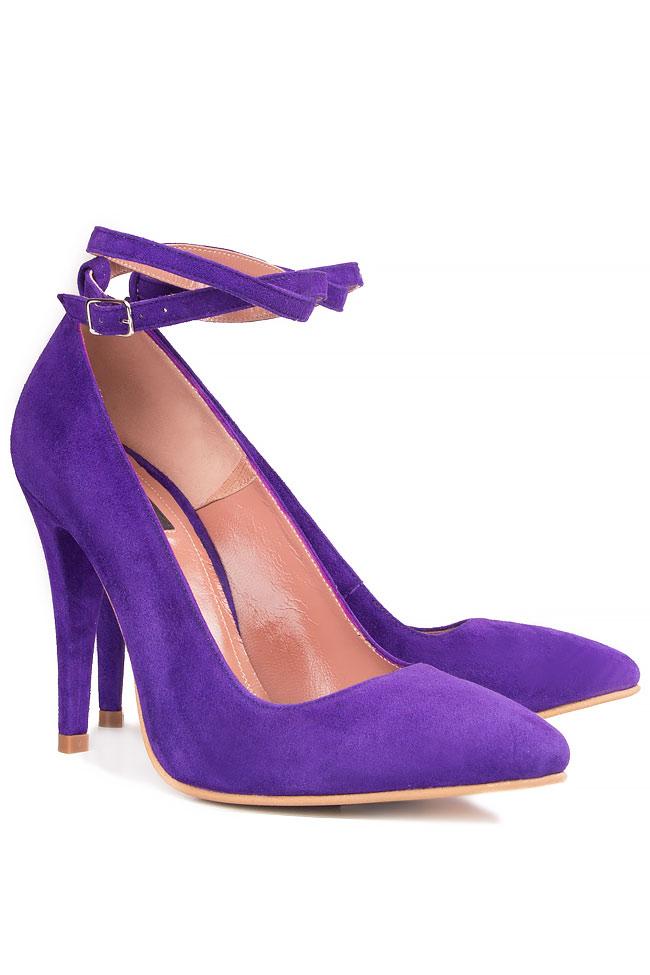 Pantofi tip stiletto din piele intoarsa MEHONIA Cristina Maxim imagine 1