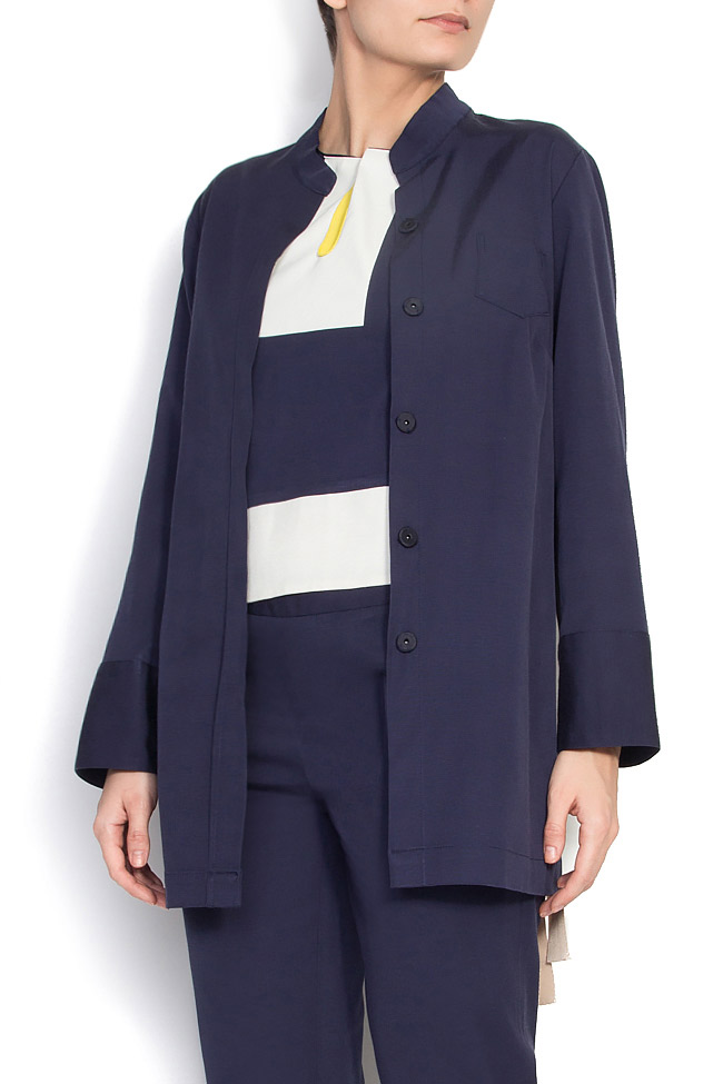 Jacheta plisata din rips  Lena Criveanu imagine 1