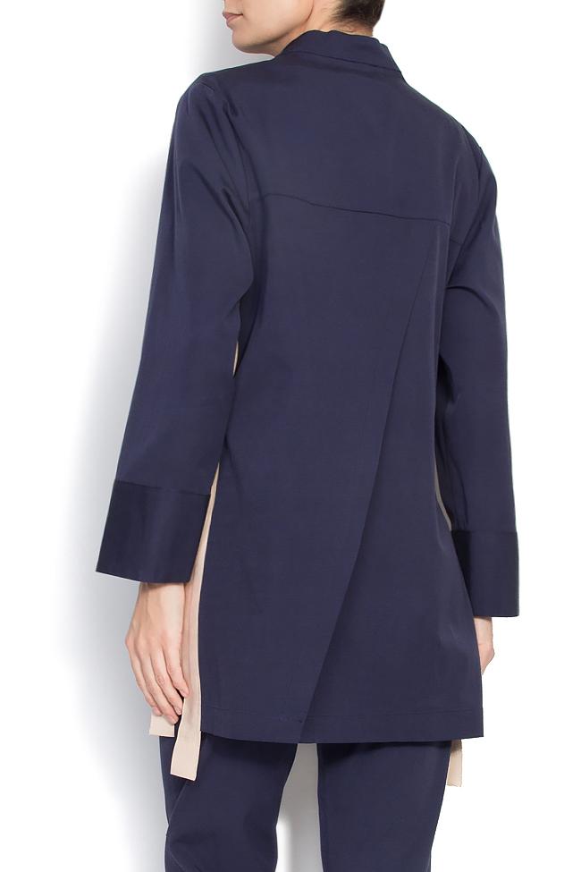 Jacheta plisata din rips  Lena Criveanu imagine 2