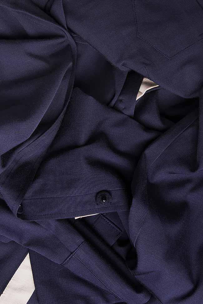 Jacheta plisata din rips  Lena Criveanu imagine 3