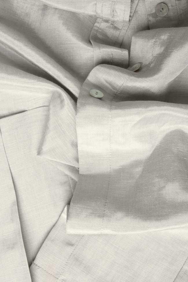 Camasa plisata din in Lena Criveanu imagine 3