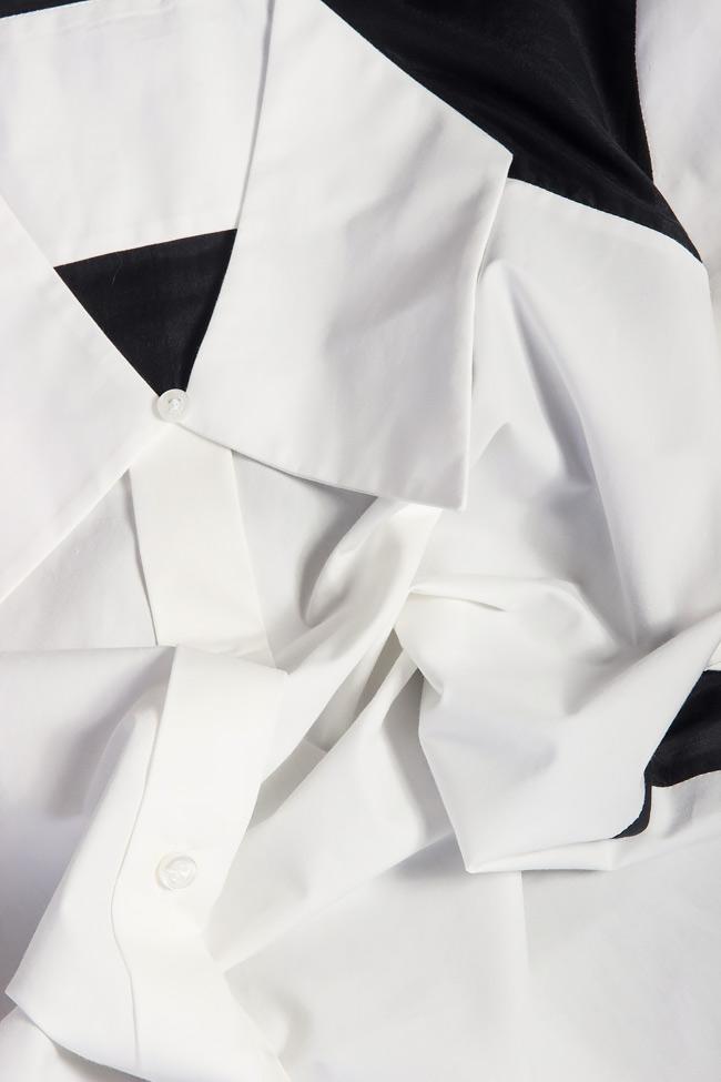 Camasa asimetrica din amestec de bumbac Carmina Cimpoeru imagine 3
