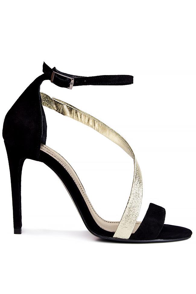 Sandale din piele intoarsa cu bareta transversala Ana Kaloni imagine 0