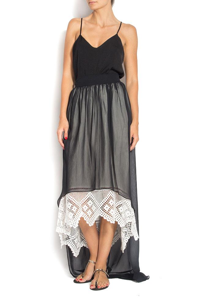 Veil broderie-anglaise asymmetric skirt Dorin Negrau image 0