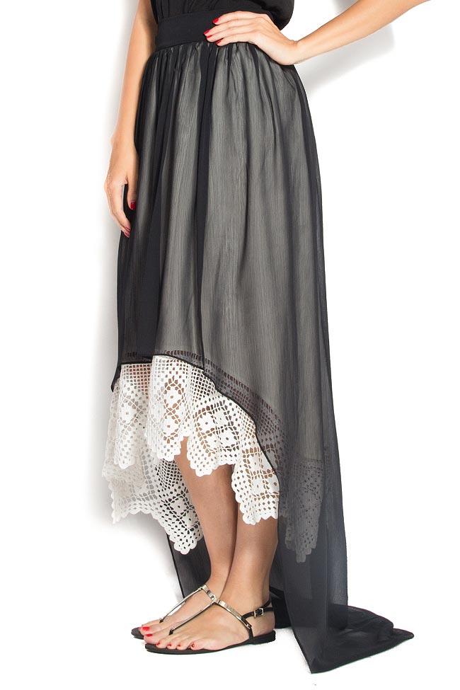 Veil broderie-anglaise asymmetric skirt Dorin Negrau image 1