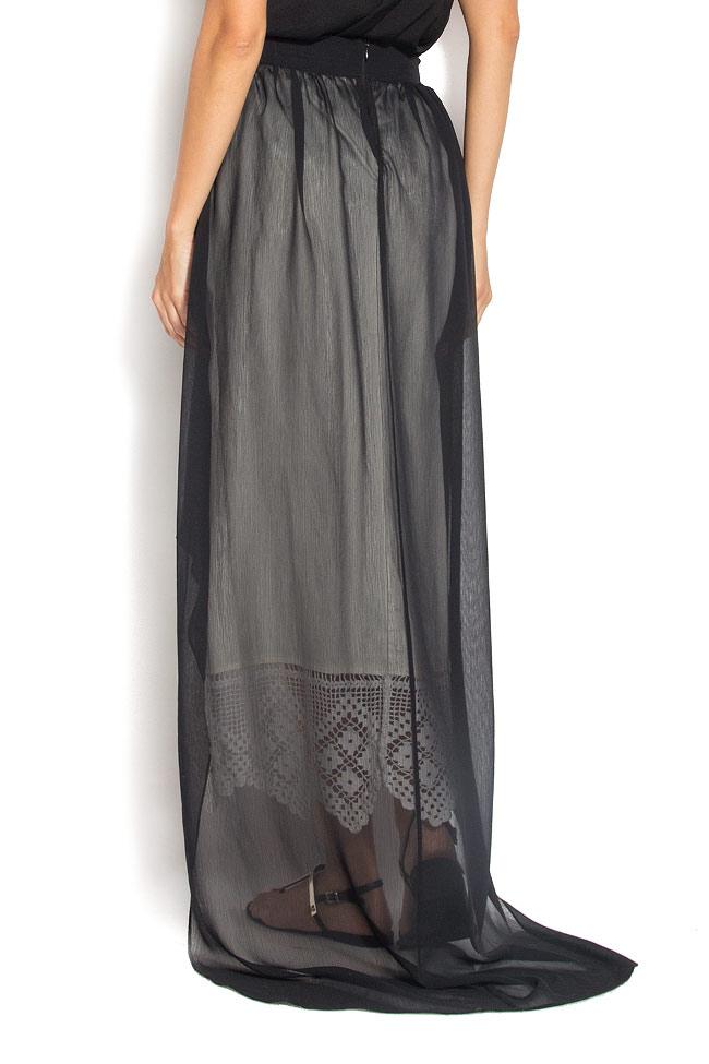 Veil broderie-anglaise asymmetric skirt Dorin Negrau image 2