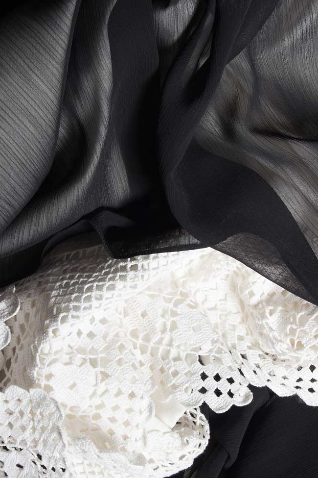 Veil broderie-anglaise asymmetric skirt Dorin Negrau image 3