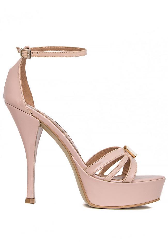 Bow-embellished patent-leather sandals Mihai Albu image 0