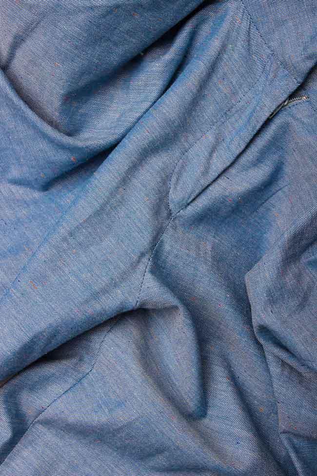 Pantaloni conici din bumbac Argo by Andreea Buga imagine 3