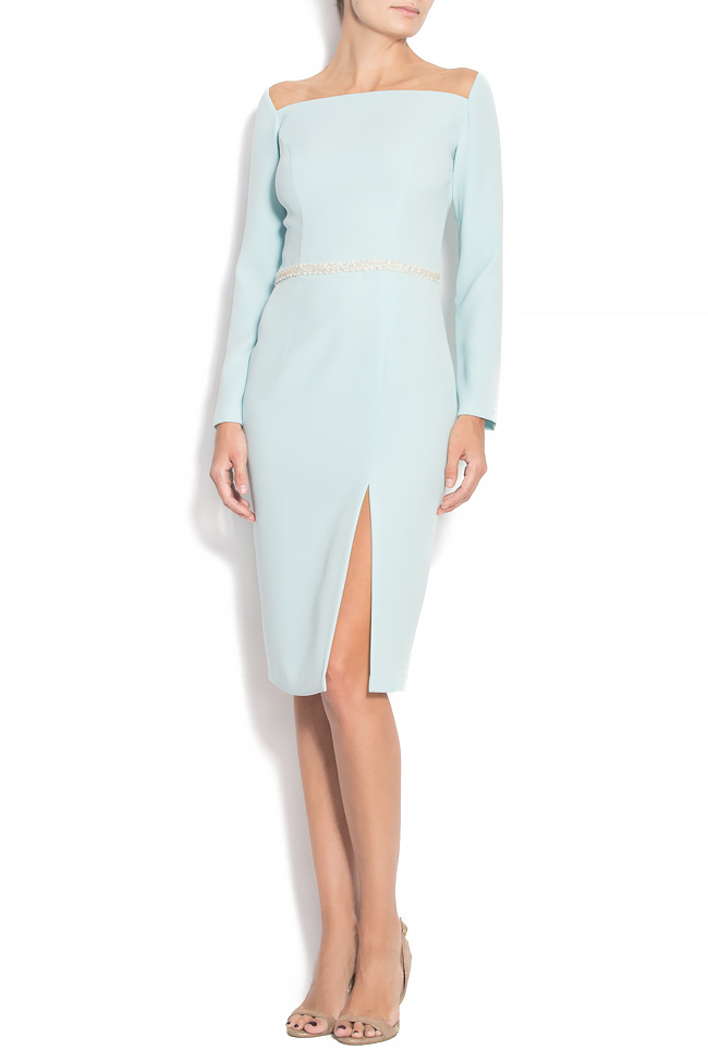 TESSA crepe dress with hand-sewn applications M Marquise image 0