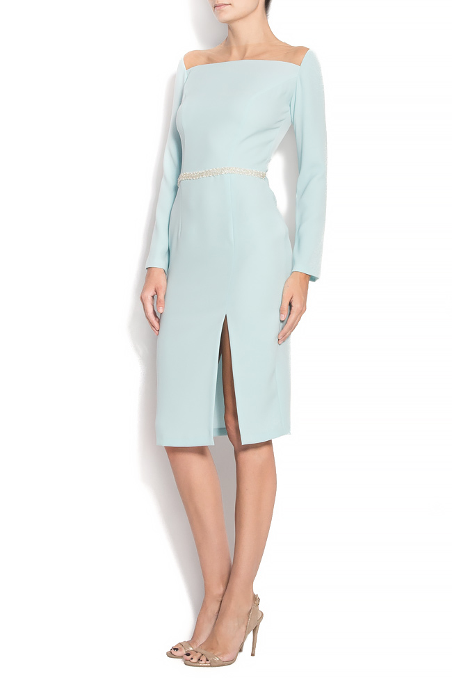 TESSA crepe dress with hand-sewn applications M Marquise image 1