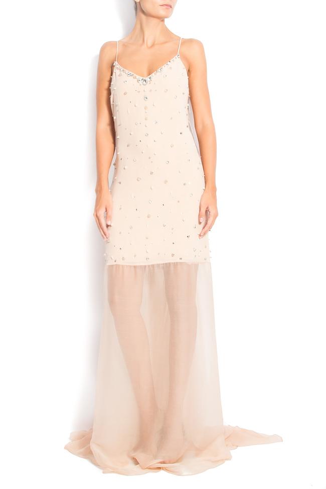 MAXI BEAT open-back embellished silk dress  Manuri image 0