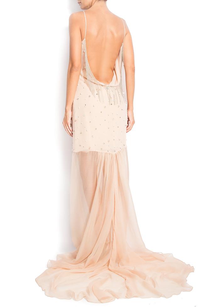 MAXI BEAT open-back embellished silk dress  Manuri image 2