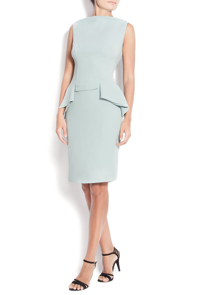 Stretch-crepe peplum gown M Marquise image 0