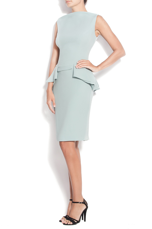 Stretch-crepe peplum gown M Marquise image 1