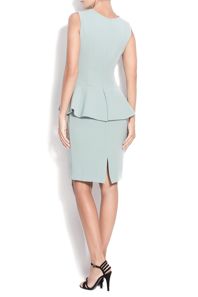 Stretch-crepe peplum gown M Marquise image 2